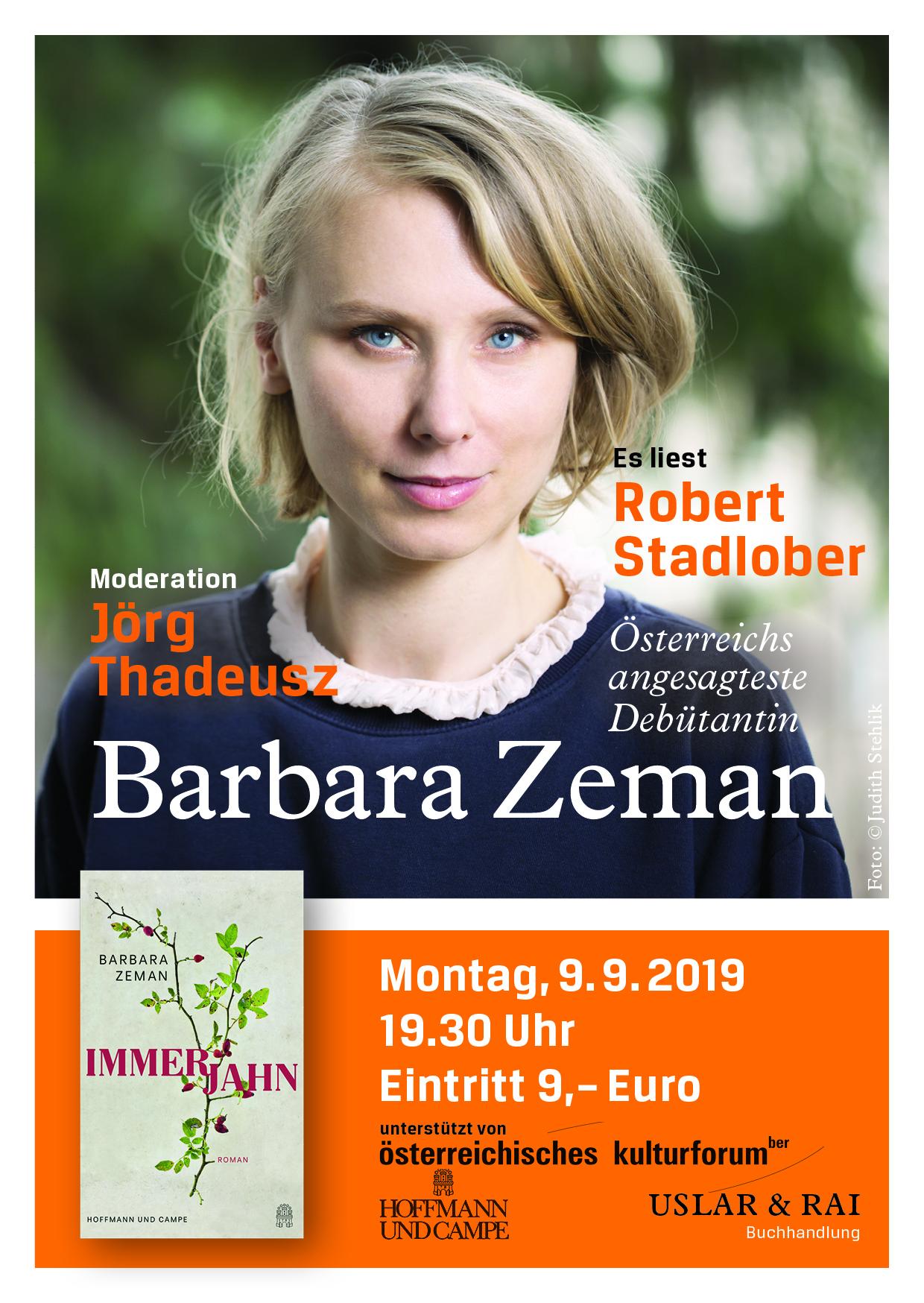 Immerjahn Mit Barbara Zeman Robert Stadlober Und Jörg Thadeusz Uslar Rai